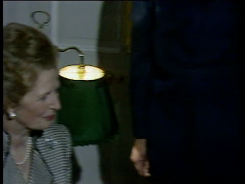 Prime Minister Margaret Thatcher and President Mikhail Gorbachev sit and chat inside 10 Downing Street 06 Apr 89