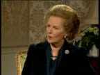 Prime Minister Margaret Thatcher describes good relationship with President Mikhail Gorbachev