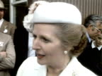 Prime Minister Margaret Thatcher gives her views on the Totexth riots 06 July 1981