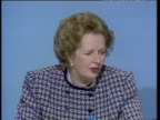 Prime Minister Margaret Thatcher states that she regards private medical insurance as