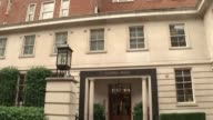 Prime Minister Nawaz Sharif resigns because of corruption allegations linked to the Panama Papers ENGLAND London Park Lane Various of Avenfield House...