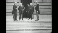 Prime Minister of the UK David Lloyd George Italian Prime Minister Vittorio Orlando French Prime Minister Georges Clemenceau and US President Woodrow...