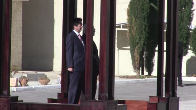 Prime Minister Shinzo Abe arrrived on Tuesday in the West Bank city of Ramallah to meet Palestinian president Mahmud Abbas before cutting short his...