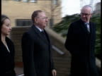 Prime Minister Thatcher implicated ENGLAND London Southwark Crown Court CMS Sir Jack Lyons walking towards as out of court accompanied by man and...