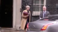 Prime Minister Theresa May leaves 10 Downing Street London for Prime Minister's Questions in the House of Commons