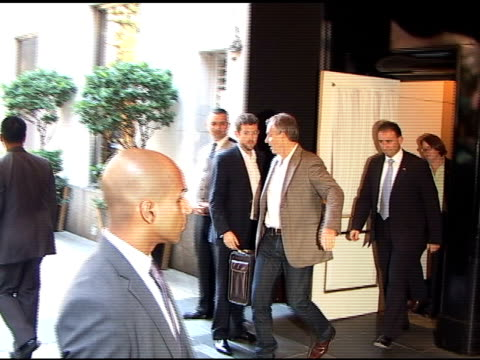 Prime Minister Tony Blair leaving the Carlyle Hotel at the Celebrity Sightings in New York at New York NY