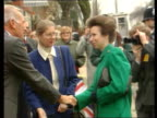 Prince and Princess of Wales have separated London CMS Princess Anne out car greeted CMS Women lined up to be met PAN LR man chatting Princess Anne...