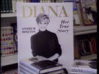 Prince and Princess of Wales' marriage TX 15692 ITN INT/June 1992 London CMS Advertising board for book 'Diana' by Andrew Morton PULL OUT as copies...