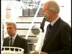 Prince Andrew attends World Maritime Day celebrations in London / General views River Thames ENGLAND London Embankment EXT Prince Andrew boarding HQS...
