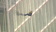 Prince Andrew has completed the nervewracking challenge of abseiling down Europe's tallest building The Duke climbed down the Shard in central London...