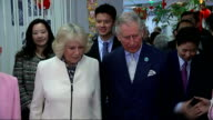 Prince Charles and Camilla join Chinatown New Year celebrations ***FLASH Chinese school children being introduced to Prince Charles and Camilla /...