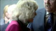 Prince Charles and Camilla visit Speyside Cooperage SCOTLAND Banffshire Craigellachie Speyside Cooperage INT Cooper in workshop firing barrel PAN to...