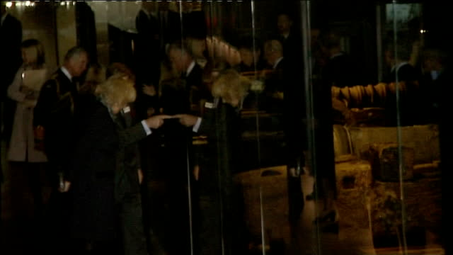 Prince Charles and Camilla visit the Mary Rose Museum at HM Naval Base Portsmouth ENGLAND Hampshire Portsmouth HM Naval Base Mary Rose Museum EXT...