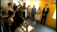 Prince Charles and Duchess of Cornwall visit The Prince's Trust Chatham Centre **Music heard SOT** Charles and Camilla listening to musicians singing...