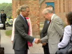 Prince Charles annual summer tour of Wales WALES Powys Welshpool Leighton Farm EXT Prince Charles arriving at farm complex and shaking hands with...