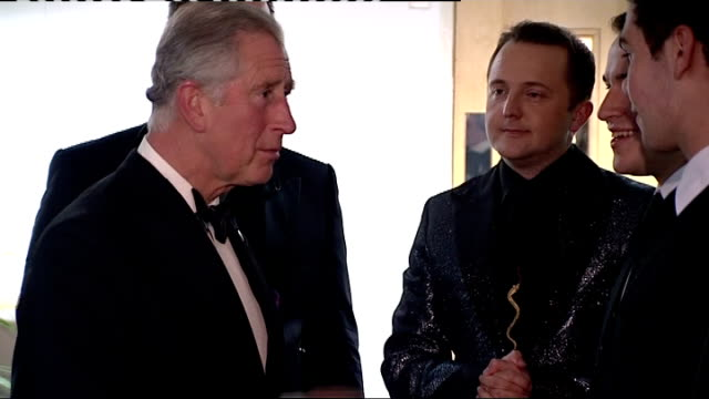 Prince Charles attends Ryder Cup gala concert WALES Cardiff Millennium Stadium PHOTOGRAPHY** Prince Charles Prince of Wales into backstage room and...