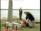 Part 2 Prince Charles visit to the Falkland islands T15039924 Prince Charles visiting war cemetery / Prince Charles throwing wreath into sea at San...