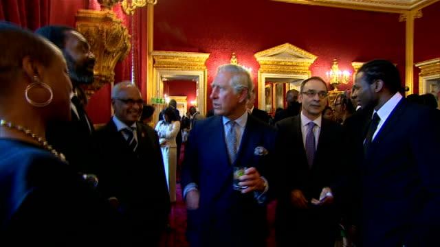 Prince Charles hosts Caribbean reception at St James's Palace GVs reception ENGLAND London St James's Palace PHOTOGRAPHY *** GVs Prince Charles...