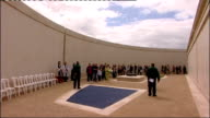 Prince Charles lays first wreath at the National Memorial Arboretum * * Music heard during following shots SOT * * Member of clergy speaking as...