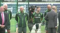 Prince Charles meets Australian and England cricketers ahead of Ashes series Prince Charles Prince of Wales arriving and meeting Australian players /...