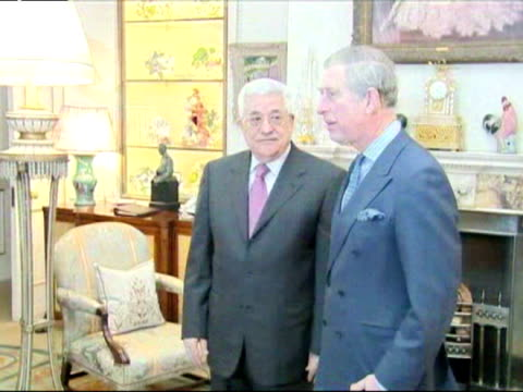 Prince Charles meets President Mahmoud Abbas of Palestine at Clarence House