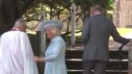 Prince Charles Prince of Wales Camilla Duchess of Cornwall at The Christening Of Princess Charlotte Of Cambridge at Church of St Mary Magdalene on...