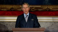 Prince Charles speech to New Buildings in Old Places conference ENGLAND London St James' palace INT Prince of Wales speech SOT Minister Ladies and...