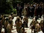 Prince Charles visit LAMS Maori doing tribal dance TGV Maoris doing tribal dance for Prince MS Ditto SOT CMS Ditto SOT