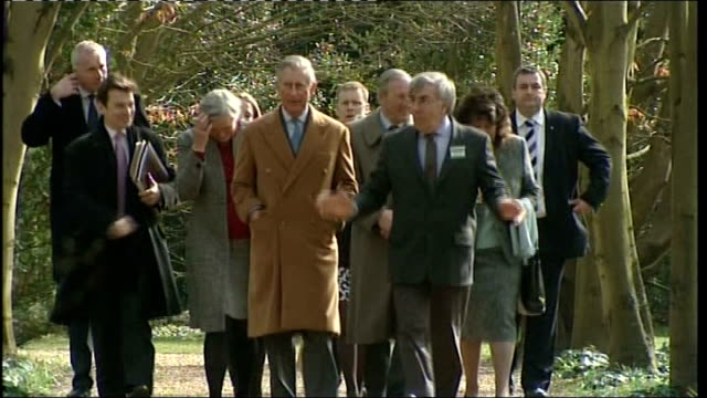 Prince Charles visits Anglesey Abbey in Cambridgeshire ENGLAND Cambridgeshire Lode Anglesey Abbey / Lode Mill EXT Close shot of bluebells/ Prince...