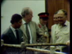 Prince Charles visits buffalo pen during his first official trip to Rhodesia before power handover 1980s