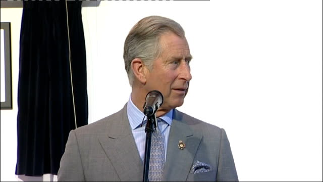Prince Charles visits Land Rover factory and Selly Oak Hospital Factory workers watching presentation ceremony / Prince Charles speech SOT Pleased to...