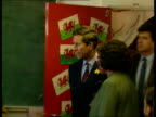 Prince Charles visits primary school in Cardiff WALES Cardiff Mount Stuart Primary School THROUGHOUT ** Door of room with pictures of Welsh dragons...