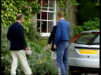 Prince Charles William Harry photocall eC5F STEVE SILK Gloucestershire Highgrove EXT Prince William driving towards in silver Ford Focus with L...