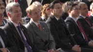 Prince Edward Earl of Wessex delivers a speech during his visit at the Tarabya British Schools in Istanbul Turkey on October 15 2015 Footage by Melik...