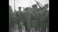 Prince Edward inspects troops in company of officers and Lieutenant Governor of New Brunswick William Pugsley / Prince places British and New...