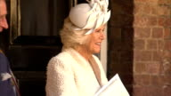 Prince George christened at St James's Palace Chapel Departures ENGLAND London Justin Welby out of chapel / Queen Elizabeth II with Prince Philip...