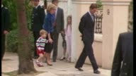 Prince George first day at nursery school TX Kensington Prince Charles Prince of Wales and Princess Diana escort three year old Prince William to...