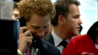 Prince Harry attends fundraising day at BGC ZOOM IN to Harry down from podium / CU Harry talking to trader / Shaking hands with trader / CBV Harry on...