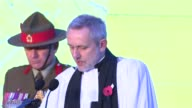 Reverend Steve Bennett reads blessing SOT Prince Harry and others Prince Harry and others away