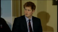 Prince Harry may join amputee soldiers' charity trek in Arctic ENGLAND London The Rifles Club PHOTOGRAPHY * * Prince Harry on stage with members of...