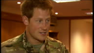 Prince Harry returns to UK following military tour of duty in Afghanistan