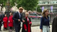 Prince Harry shows King and Queen of Spain around Westminster Abbey ENGLAND London Westminster Abbey EXT Prince Harry accompanies King Felipe VI and...