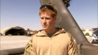 Prince Harry tour of duty in Afghanistan Prince Harry interview SOT ABOUT WHAT IS YOUR ROLE Well back home there is a lot of hard work goes into...