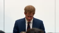 Prince Harry visits Blast Injuries Centre at Imperial College London Prince Harry speech SOT Thank you very much for inviting me here today / This...
