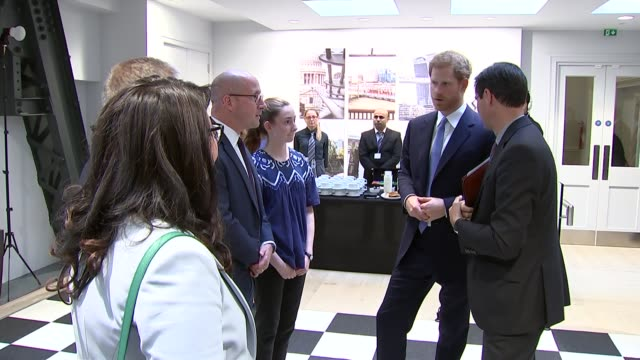 Prince Harry visits Chatham House to open the Stavros Niarchos Foundation Floor ENGLAND London Chatham House THROUGHOUT*** John Major waiting at...