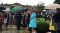 Prince Harry visits Hillsborough Castle accompanied by Northern Ireland Secretary James Brokenshire as part of a tour of the country
