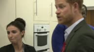 Prince Harry visits Leicestershire Aids Support Service Leicester Cooking at LASS taste test / Food is handed out in LASS canteen / Prince Harry...