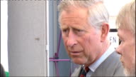 Prince of Wales criticised over Chelsea barracks intervention WALES Llandarcy Coed Darcy EXT Prince Charles Prince of Wales watching man cutting...