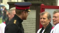 Prince Philip and Prince Harry visit Field of Remembrance ENGLAND London Westminster Abbey EXT Prince Philip Duke of Edinburgh and Prince Harry...