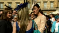 Prince Philip attends garden party on his 93rd birthday Queen talking to guests at garden party / Duchess of Cambridge chatting to people / Queen...